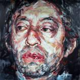 Hom Nguyen  «Portrait de Serge Gainsbourg» huile sur toile, 200cm x 200cm