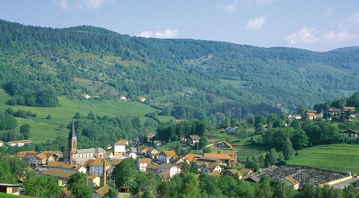 Le village de Saint-Maurice, dans les Vosges